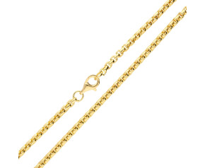 9ct Yellow Gold 2.67mm Box Belcher Chain