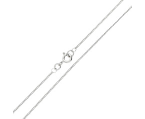 9ct White Gold Filed 1.20mm Curb Chain