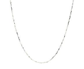 Platinum 1.18mm Fancy Glitter Bar Chain