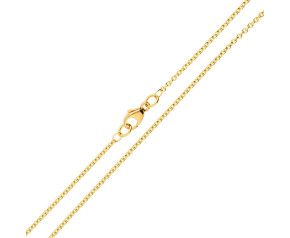 18ct Yellow Gold 1.55mm Tight Link Trace Chain