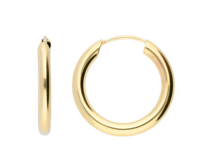 9ct Gold 15mm Chunky Sleeper Hoop Earrings
