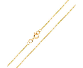 9ct Yellow Gold 1.20mm Filed Curb Chain