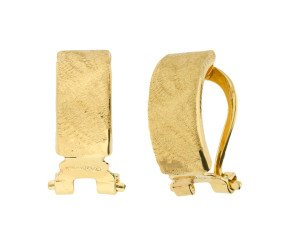 9ct Yellow Gold Clip-on Hoop Earrings