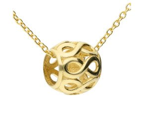 9ct Yellow Gold Infinity Ball Pendant
