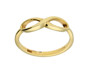 9ct Yellow Gold Infinity Ring