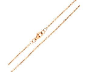 9ct Rose Gold 1.46mm Close Link Filed Trace Chain