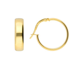 9ct Yellow Gold 17mm Hoop Earrings
