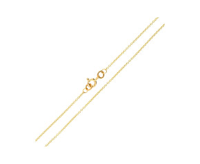 9ct Yellow Gold 1.23mm Trace Chain