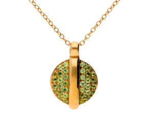 9ct Yellow Gold Peridot Pendant