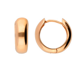 9ct Rose Gold Creole Hoop Earrings
