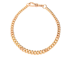 9ct Rose Gold Graduated Curb Bracelet