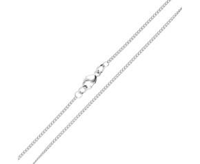 18ct White Gold 1.37mm Curb Chain
