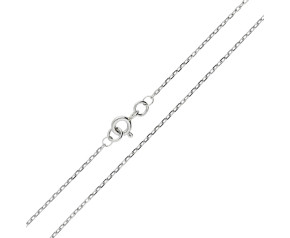 9ct White Gold 1.34mm Filed Trace Chain