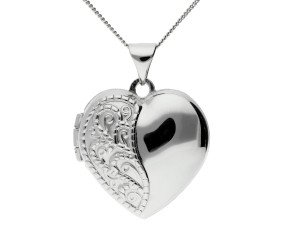Sterling Silver Decorative Heart Locket