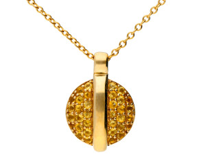9ct Yellow Gold Citrine Pendant