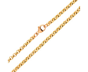 9ct Rose Gold Belcher Chain