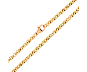 9ct Rose Gold 4.39mm Belcher Chain- 36 Inches
