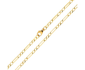 18ct Yellow Gold 2.93mm Figaro Belcher Chain