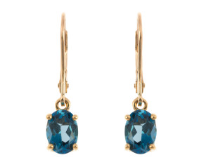 Pre-Owned Topaz Drop Earrings