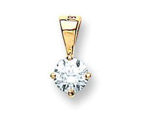18ct Yellow Gold 0.70ct Diamond Solitaire Pendant