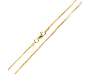 9ct Yellow Gold 1.35mm Filed Franco Chain