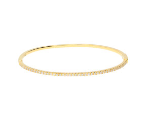 18ct Yellow Gold 0.60ct Diamond Hinged Bangle