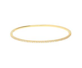 18ct Yellow Gold 0.60ct Diamond Hinged Bangle
