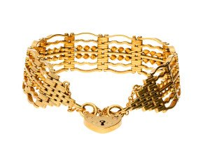 Vintage 9ct Yellow Gold Gate Bracelet