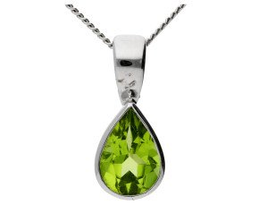 9ct Yellow Gold 0.45ct Peridot Solitaire Pendant
