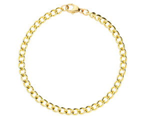 9ct Yellow Gold 4.35mm Open Curb Chain Bracelet