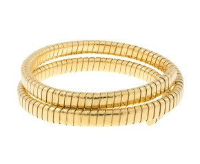 Pre-owned Gold Wrap Around Coiled Bangle