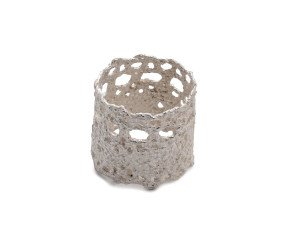 Sterling Silver Wide Lace Ring