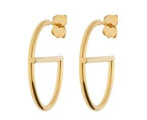 9ct Yellow Gold Fancy Hoop Earrings