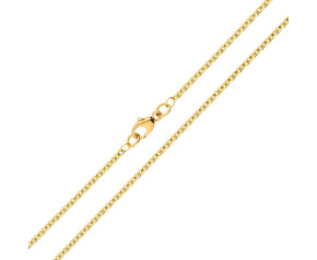 18ct Yellow Gold 1.93mm Close Link Trace Chain