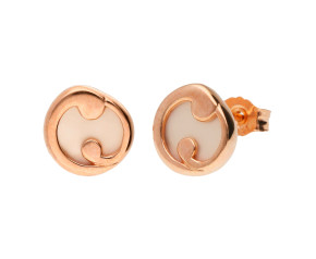 9ct Rose Gold Mother Of Pearl Stud Earrings