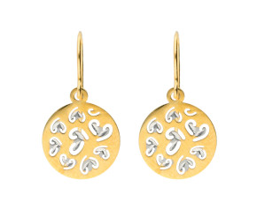 9ct Yellow & White Gold Fancy Drop Earrings