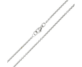 9ct White Gold 1.93mm Close Link Trace Chain