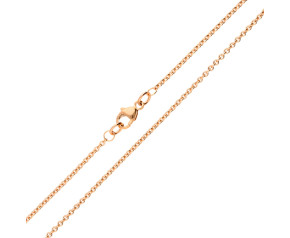 9ct Rose Gold 1.55mm Tight Link Trace Chain