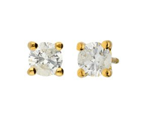 Classic Collection 18ct Gold 1.00ct Diamond Earrings