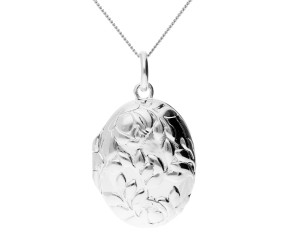 Sterling Silver Rose Locket