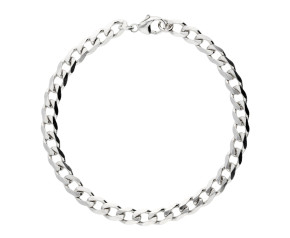 9ct White Gold 5.57mm Metric Curb Chain Bracelet