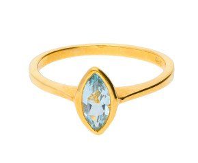 9ct Yellow Gold 0.70ct Aquamarine Solitaire Ring