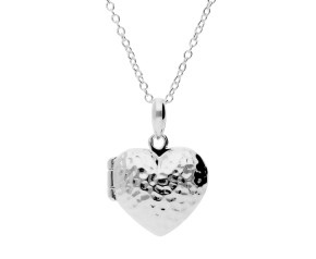 Sterling Silver Textured Heart Locket