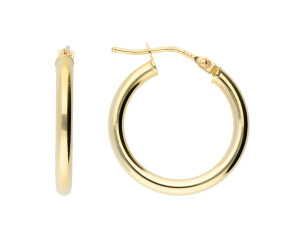 9ct Yellow Gold 18mm Tube Hoop Earrings
