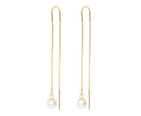 9ct Yellow Gold Pearl Thread Earrings