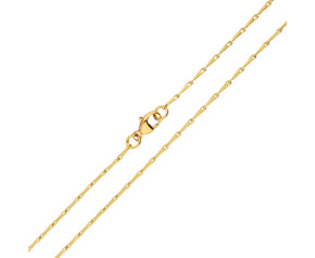 18ct Yellow Gold 1.56mm Hayseed Chain- 14 Inches
