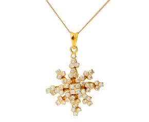 Vintage 1.50ct Diamond Spray pendant