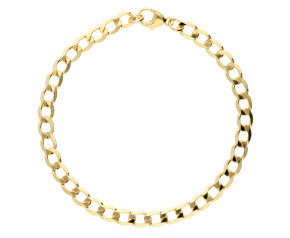 9ct Yellow Gold 4.85mm Metric Curb Chain Bracelet