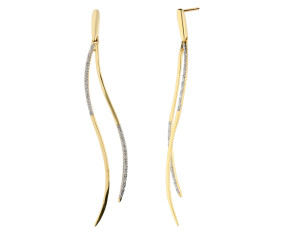 9ct Yellow Gold Diamond Fancy Drop Earrings