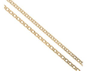 Pre-owned 9ct Yellow Gold Double Curb Chain Necklace